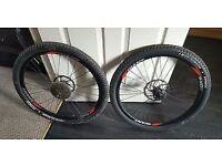 "Pair of 26"" mtb wheels,tyres,discs"
