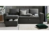 Next Home Grey Sofa Bed with Storage