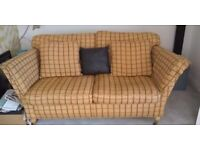 Two matching Duresta large double sofa's