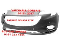 VAUXHALL FRONT BUMPER CORSA E NEW 2016 2017 2018 ( READY TO PAINT )
