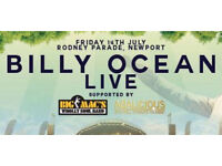 Billy Ocean Newport 14th July 4 x Golden Circle Tickets