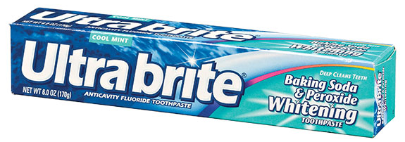 12x ($2.49pc) Ultra Brite Cool Mint Toothpaste with Baking Soda & Peroxide 6oz.