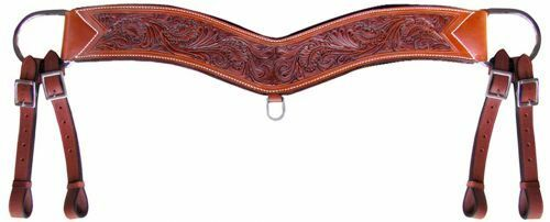 Heavy Duty Hand Tooled Leather Horse Tripping Collar Breast Collar Breast Plate