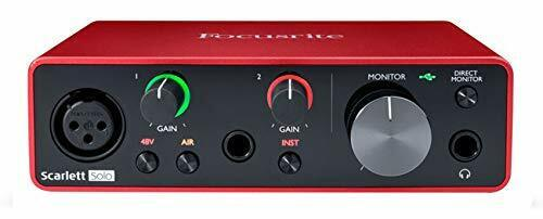 Focusrite SCARLETT SOLO 3rd Gen 192kHz USB Audio Interface w/Pro Tools First