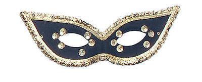 Black Fiesta Domino Eye Mask Ladies Fancy Dress Masquerade Ball Costume Mask