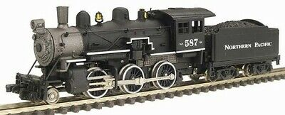 MODEL POWER 87606 N SCALE Northern Pacific Steam 2-6-0 Mogul NEW