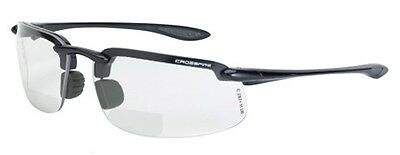 Crossfire Safety Glasses ES4 216420 Bifocal Reading Readers 2.0x Clear Lens