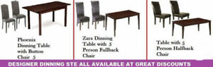 WINTER DEALS ON OTTOMANS, DINING CHAIRS, COFFEE TABLE