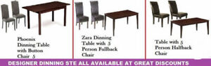 NEW YEAR DEALS ON MODELS OF OTTOMANS, DINING CHAIRS,TABLES