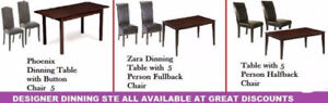 NEW YEAR SALE ON OTTOMANS, DINING CHAIRS, COFFEE TABLES