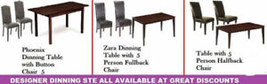 MARCH DEALS ON OTTOMANS, DINING CHAIRS, COFFEE TABLE