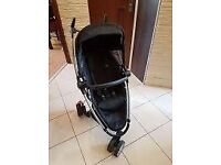 Quinny Zapp Xtra 2 black front and rear facing travel pushchair stroller