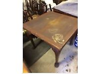 Antique Solid Oak Draw Leaf Dining Table