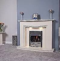 Venice Marble Fireplace with Downlights