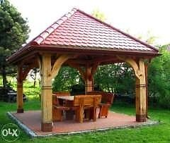 Wooden gazebos,garden sheds, log cabin many design available. Prices £850