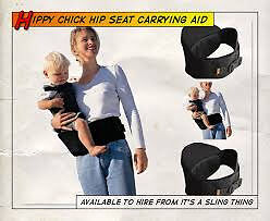 Hippychick Hip Seat Baby Carrier - Black
