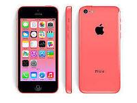 APPLE iPhone 5C 8GB PINK UNLOCKED 6 MTHS WARRANTY GOOD CONDITION BOXED LAPTOP/PC USB LEAD HARD CASE