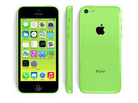 APPLE iPhone 5C 8GB GREEN FACTORY UNLOCKED 60 DAYS WARRANTY GOOD CONDITION LAPTOP/PC USB LEAD