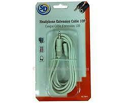 Headphone Extension Cable 10ft - NEW