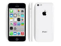 APPLE iPhone 5C 8GB WHITE FACTORY UNLOCKED 60 DAYS WARRANTY GOOD CONDITION LAPTOP/PC USB LEAD