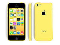 APPLE iPhone 5C 8GB YELLOW UNLOCKED 6 MONTHS WARRANTY GOOD CONDITION BOXED LAPTOP/PC USB LEAD