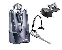 Complete Plantronics CS50 900 Mhz wireless headset system