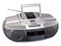aiwa, CSD-ED37, COMPACT DISC STEREO RADIO CASSETTE RECORDER.