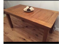 Sold oak farmhouse rustic dining table