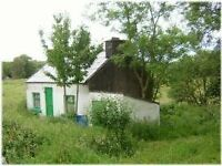 COTTAGE FOR SALE - IRELAND (CLARE) 0.2 ACRE SITE NEAR LAKE £45000 (REDUCED)