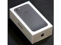 iPhone 7 Matt Black 128GB Brand New