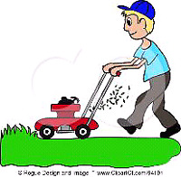 Lawn grass cutting $60