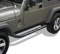 JEEP WRANGLER 2DR 2007-2016 NERF STEP BAR MARCHE PIED BLACK NEW