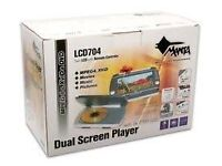 """BRAND NEW & BOXED MANTA LCD-704 DUAL (2x) 7"""" COLOUR TFT LCD SCREEN PLAYER"""