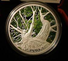 Pièce de 20$ 2013 Canadian Maple Canopy en argent fin 1 oz  limi
