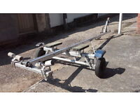 Boat trailer,Length 4m 25cm, Width 1m 30cm, medium Weight with sealed bearings.
