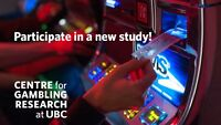 Male participants needed for gambling and alcohol study at UBC
