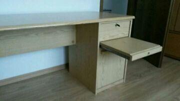 schreibtisch mit ausziehbarer ablage in nordrhein. Black Bedroom Furniture Sets. Home Design Ideas
