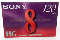 Sony 8mm 120 minute HG Video8 tape - brand new 2-pack