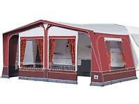 Full Size Dorema Daytona Caravan Awning (Size 13)(950-975cm) in Bordeaux/Grey