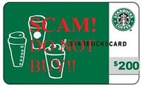 FRAUD: Starbucks gift card scam - Reported to CRIME STOPPER