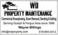 Snowplowing, snow removal, sanding & salting