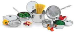 Wolfgang Puck 10 piece cooking pots and pans set