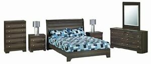 LORD SELKIRK FURNITURE - 6 PC BEDROOM SUITE -DARK GREY -$1299.00