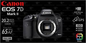 BRAND NEW IN BOX CANON EOS 7D MARK II BODY WITH 18-135MM LENS