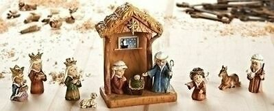 "8"" 11-Piece Stable with Children Nativity Set by ROMAN INC - 36144"