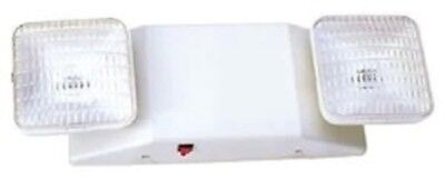 New 2 Head Emergency Lighting Fixture With Battery Back-up Free Shipping