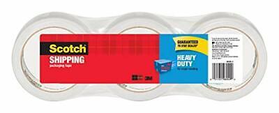 Scotch Heavy Duty Shipping Packaging Tape 3 Core 1.88 X 38.2 Yards 3 Rolls