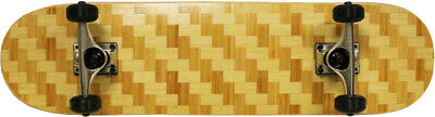 BAMBOO WEAVE Skateboard 8.0 Complete Checker READY TO RIDE