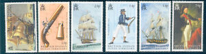 BIOT-B-I-O-T-SHIPS-GUNS-MILITARY-297-302-TRAFALGAR-SET-MINT-NH