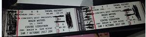 Paire Billets Roger Waters, 7 Oct, Centre Videotron, 212, K 6-7